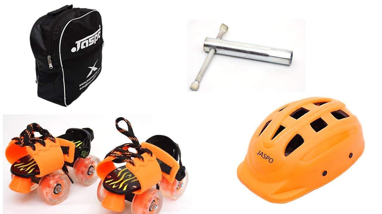 Jaspo Speedy Kid Dual Junior Adjustable Roller Skates Combo Suitable for Age Group Upto 5 Years