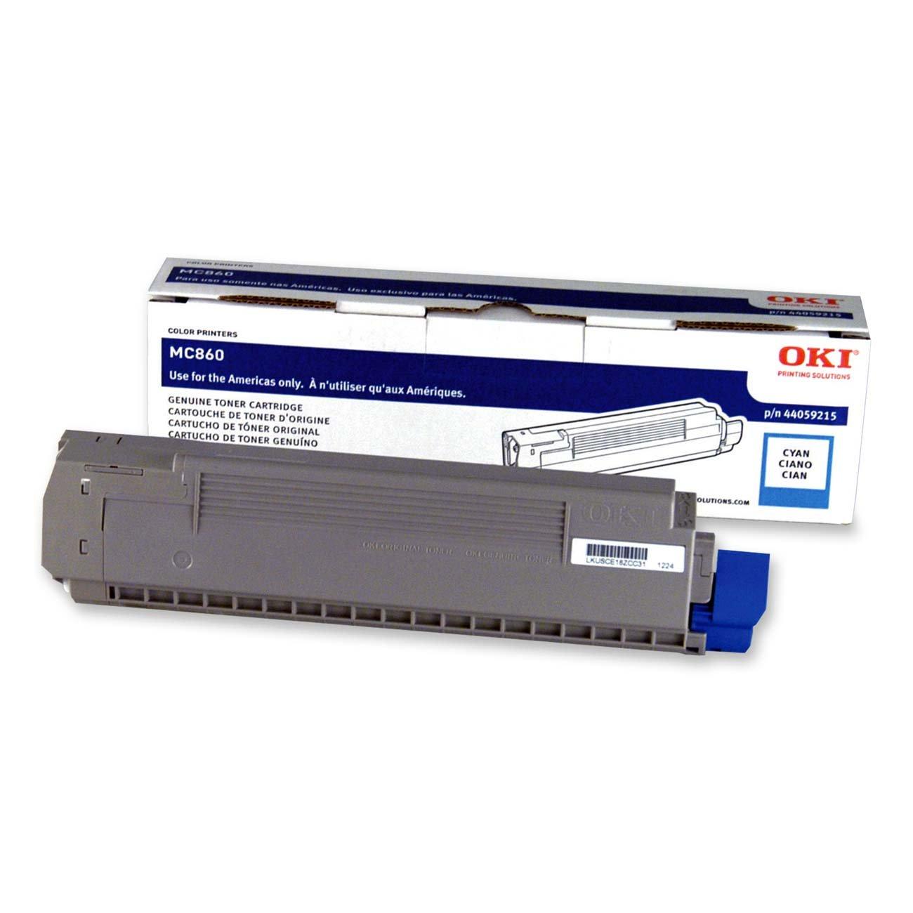 OKI - Cyan - original - toner cartridge - for OKI MC860, MC860cdtn, MC860cdxn, MC860dn B001QFYCRK