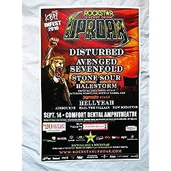 2010 Stonesour HellYeah Disturbed Concert Poster Rockstar Uproar