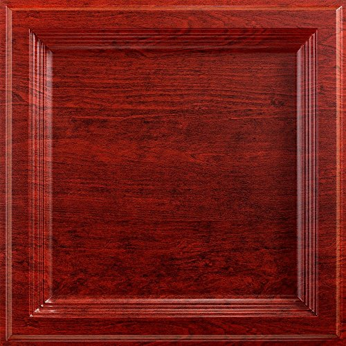 Fasade Easy Installation Classic Coffer Cherry Lay In Ceiling Tile / Ceiling Panel (2' x 2' Tile) - Cherry Panel