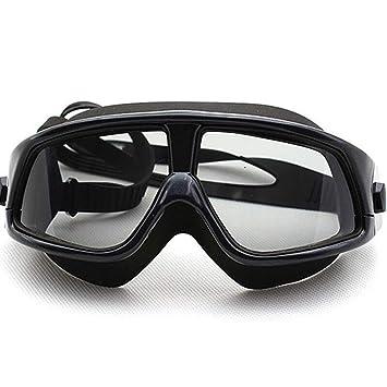 MUTANG Gafas de natación, Polarizado Claro Marco de Gran tamaño Chapado Lentes de Espejo Plano