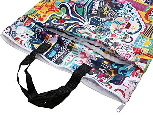 Wegreeco Reusable Hanging Wet Dry Cloth Diaper Bag(Odyssey)