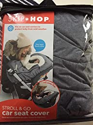 skip hop stroll and go car seat cover heather grey baby. Black Bedroom Furniture Sets. Home Design Ideas