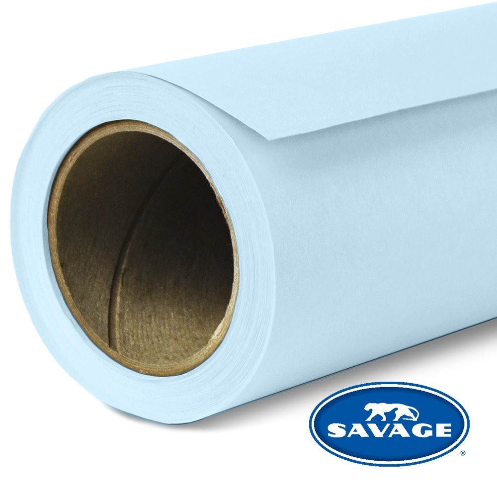 Savage Seamless Background Paper - #41 Blue Mist (107 in x 36 ft) by Savage