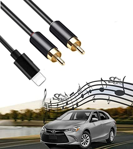 2 RCA Car Audio Aux in Cable Stereo Y Splitter Adapter with USB Port Compatible for IP Pod Pad for Toyota Honda Infiniti Ford Audi Jeep Dodge Mazda Nissan KIA