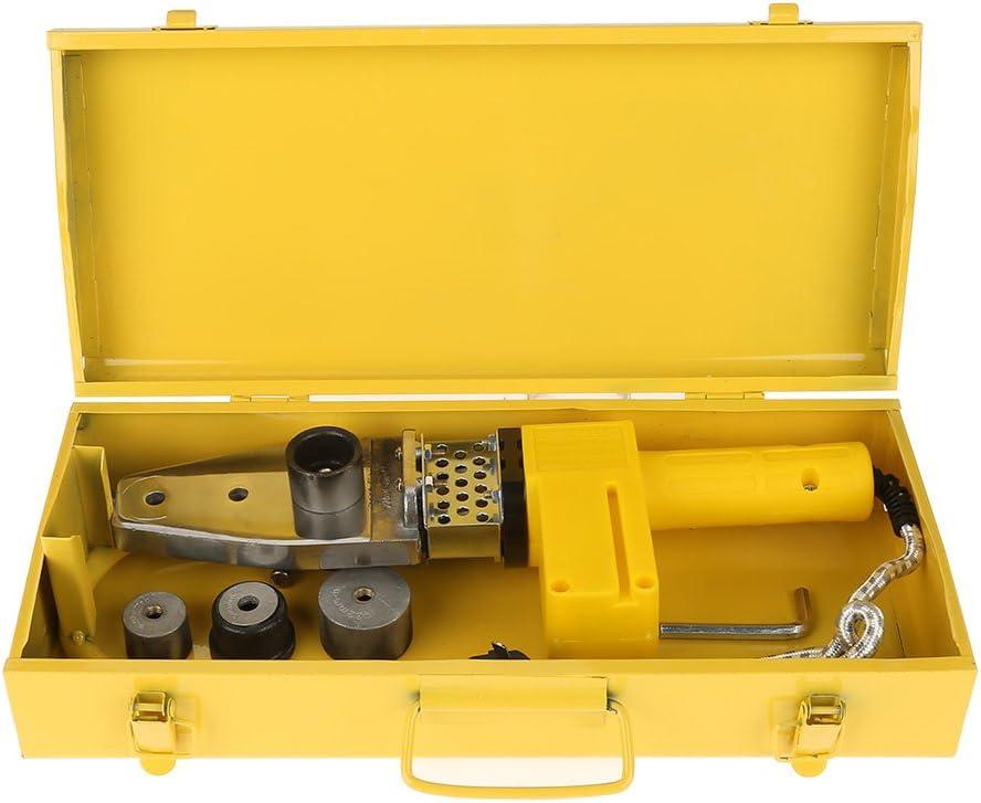 220V 600W Full Automático Temperatura Eléctrica Controlado Calefacción PPRPE Tubo PP Soldadura Máquina + Cabezales Kits con Caja