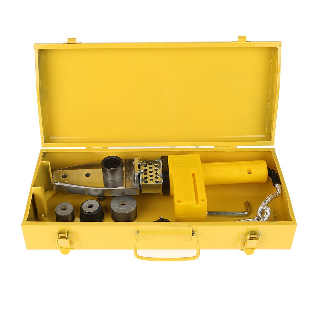 220V 600W Full Automatic Electric Temperature Controlled Heating PPR PE PP Tube Pipe Welding Machine + Heads Kits with Box