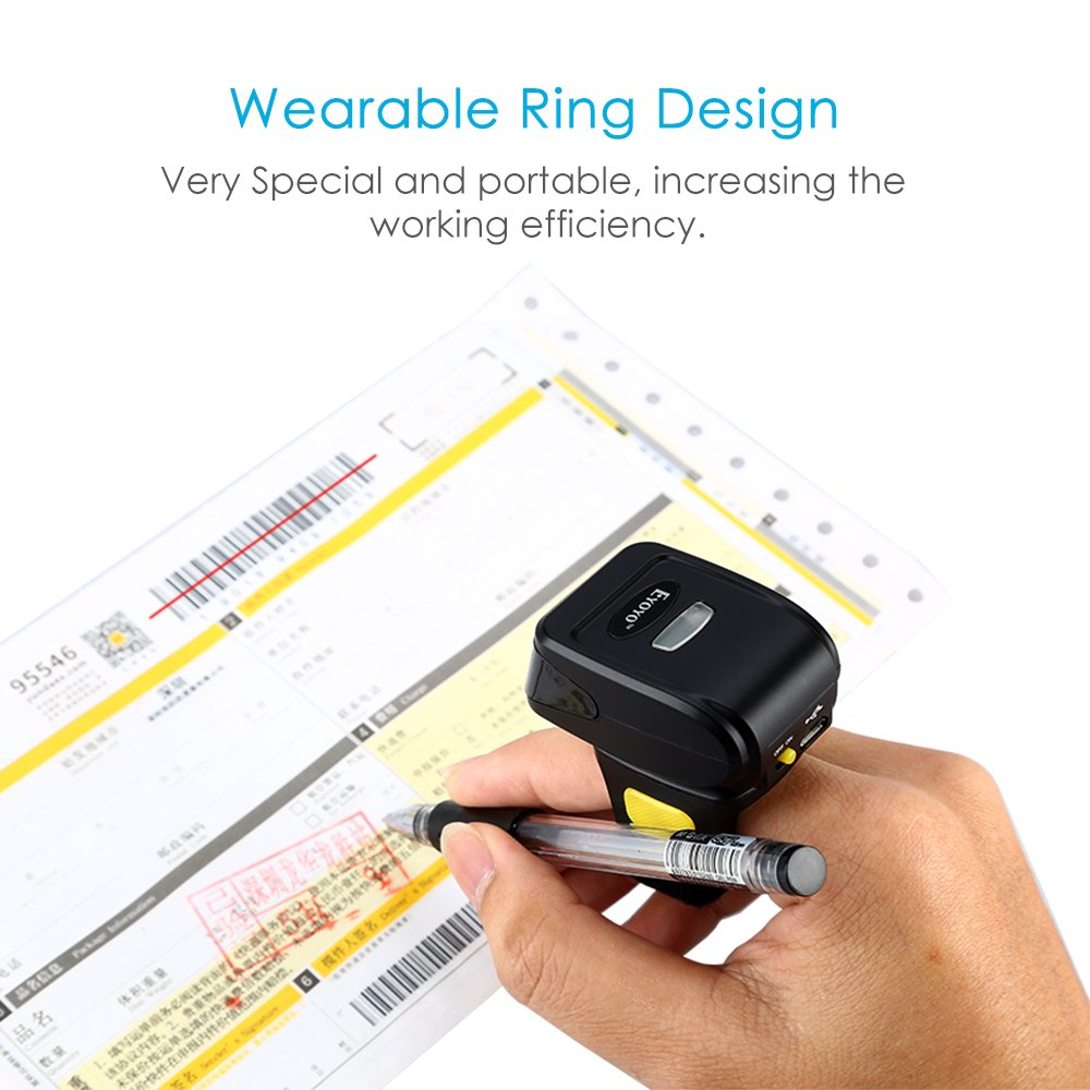 iPhone Eyoyo Bluetooth Barcode Scanner Tablets or Computers PC with USB Receive Compatible with Bluetooth Function /& 2.4GHz Wireless /& Wired Connection CCD Bar Code Reader for iPad Android Phones