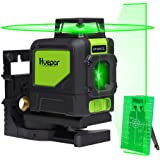 Huepar 901CG Laser Level Mute - Green Beam Cross Laser Self-Leveling - Green Laser Level - 360°Self Levelling Laser Line - Professional Leveling Tool - Green Line Lasers - Laser Spirit Level