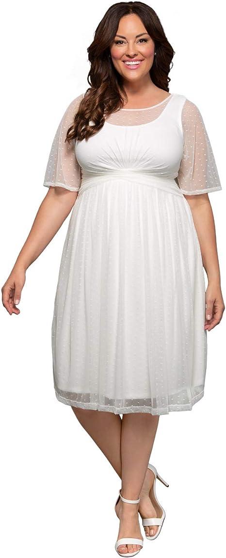 Kiyonna Women\'s Plus Size Stars A-line Wedding Dress Ivory ...