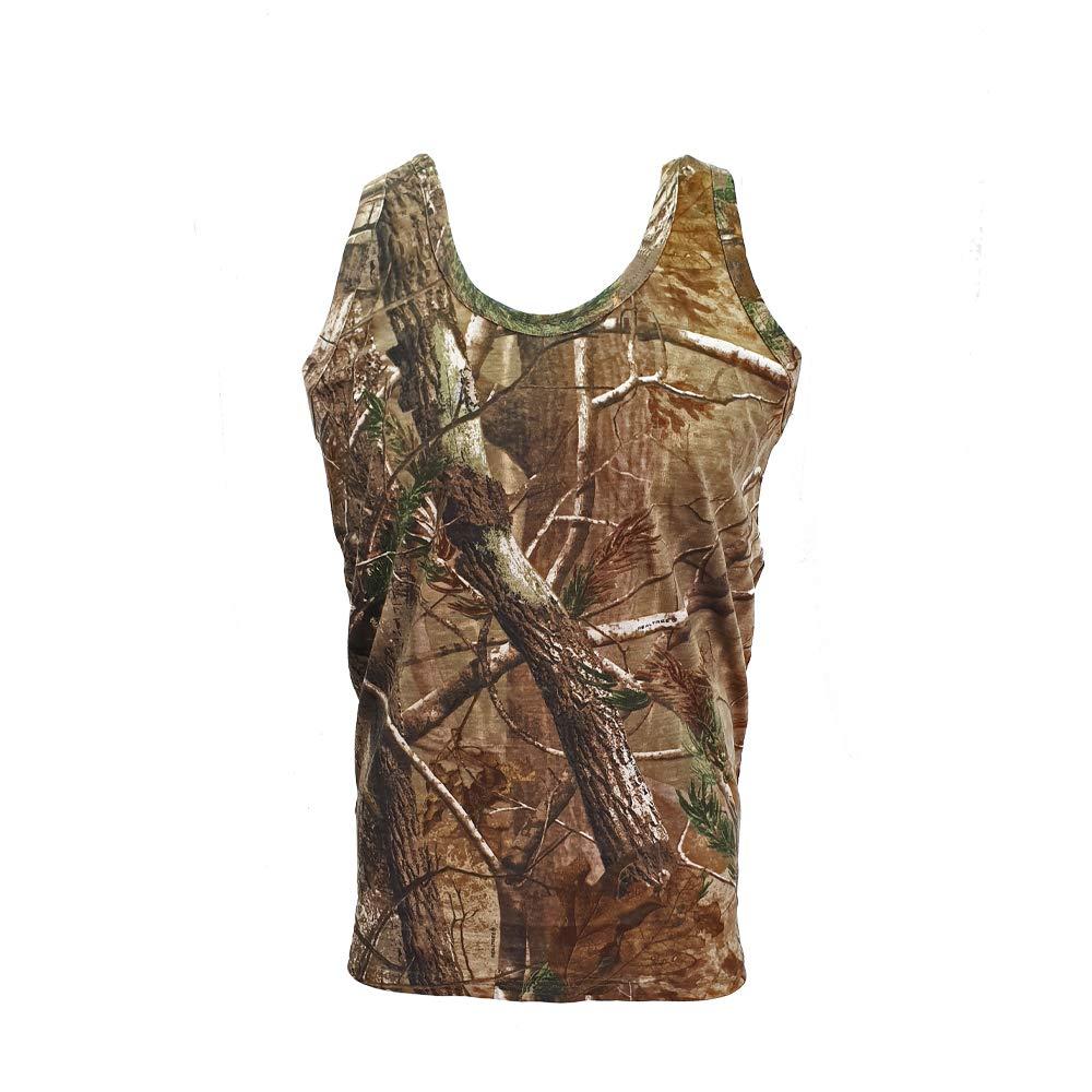 Hommes Imprim/é Jungle Camouflage Manche Courte T-Shirt Camo Chasse Regular et Plus Size Top
