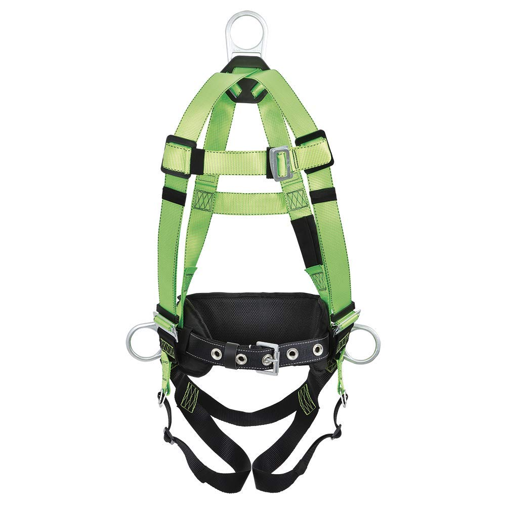 Peakworks V8255222 Contractor Safety Harness with Positioning Belt-3D-Class AP Green Medium