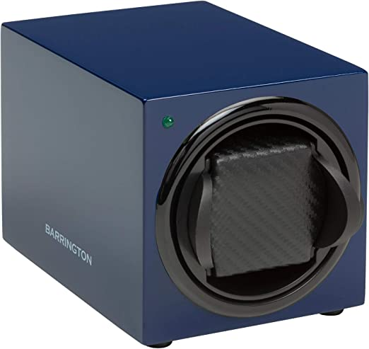Barrington | Estuche Cargador Barrington para Un Reloj - Azul Medianoche Cojín Estándar: Amazon.es: Relojes