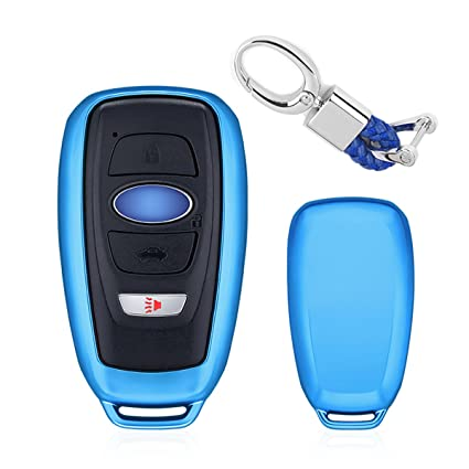 Black Mofei for Subaru Key Fob Shell Cover Case TPU Protector Holder with Key Chain Compatible with Subaru Outback Legacy Forester Sti XV Crosstrek Impreza BRZ WRX Remote Keyless Entry