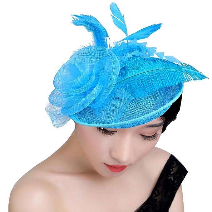 KAXIDY Mujer Sombreros de Vestir Sombrero Tocado Retro Clips de Pelo Niña Tocado  de Cabeza ( 8e808682f2f3