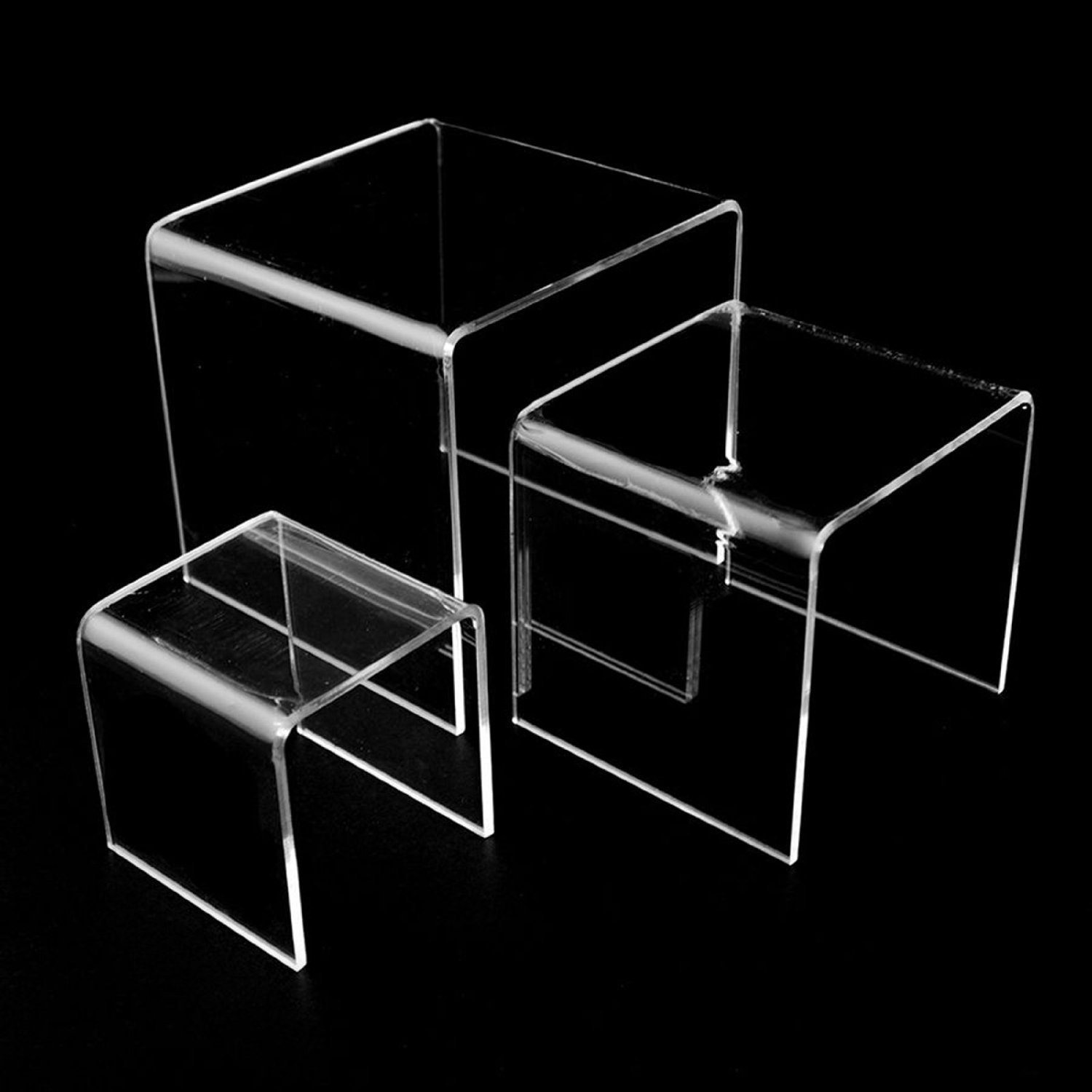 Adorox Top Quality (2 Set) Clear Acrylic Display Riser by Adorox (Image #3)