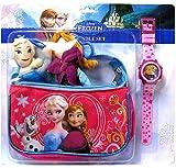 Fast Forward Disney Frozen Anna and Elsa Handbag, Plush, and Watch Gift Set