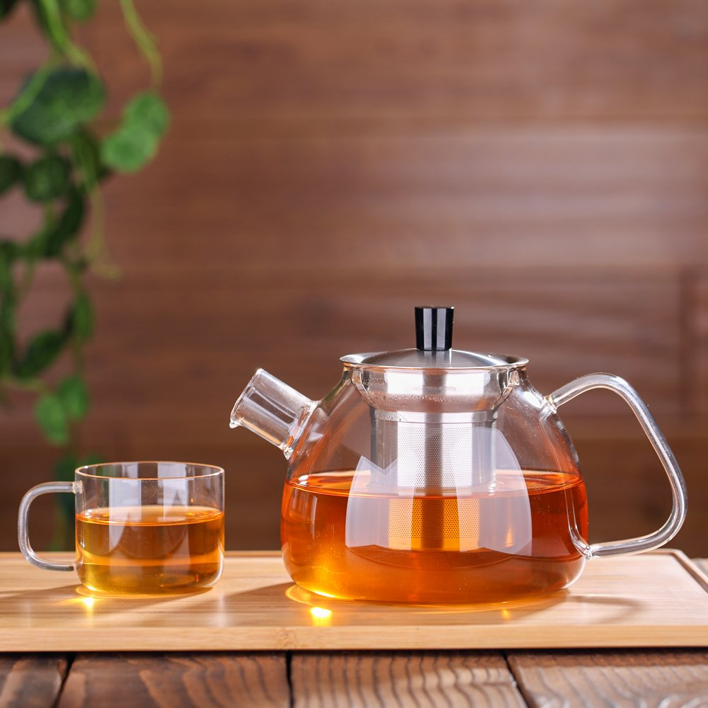 Ecooe Glass Teapot 30 Oz Loose...