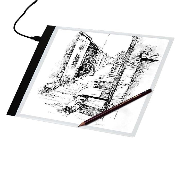 disegnare animazione,con luce LED regolabile. Pad Ultra-sottile solo 5mm tavolino di alimentazione USB per gli artisti XIAJIA-A4 Tracing Light Box disegnare