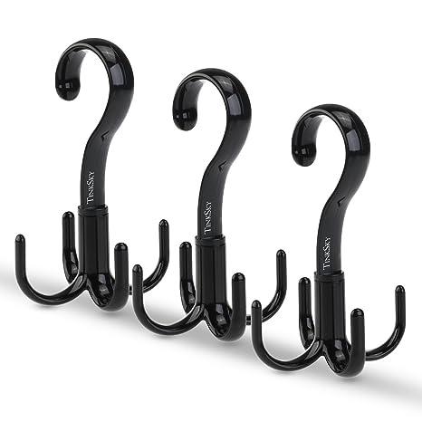 Amazon.com: Tinksky cinturón percha de ropa bufanda Tie Rack ...