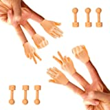 Daily Portable LLC Tiny Hands (Rock, Paper, Scissors) - 6 Pack - Fist Bump, Peace Sign, and High Five Mini Hand Puppet