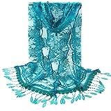 Hot Sale! iYBUIA Fashion Women Long Wrap Scarf Tassel Shawl Flower Lace Scarf Scarves