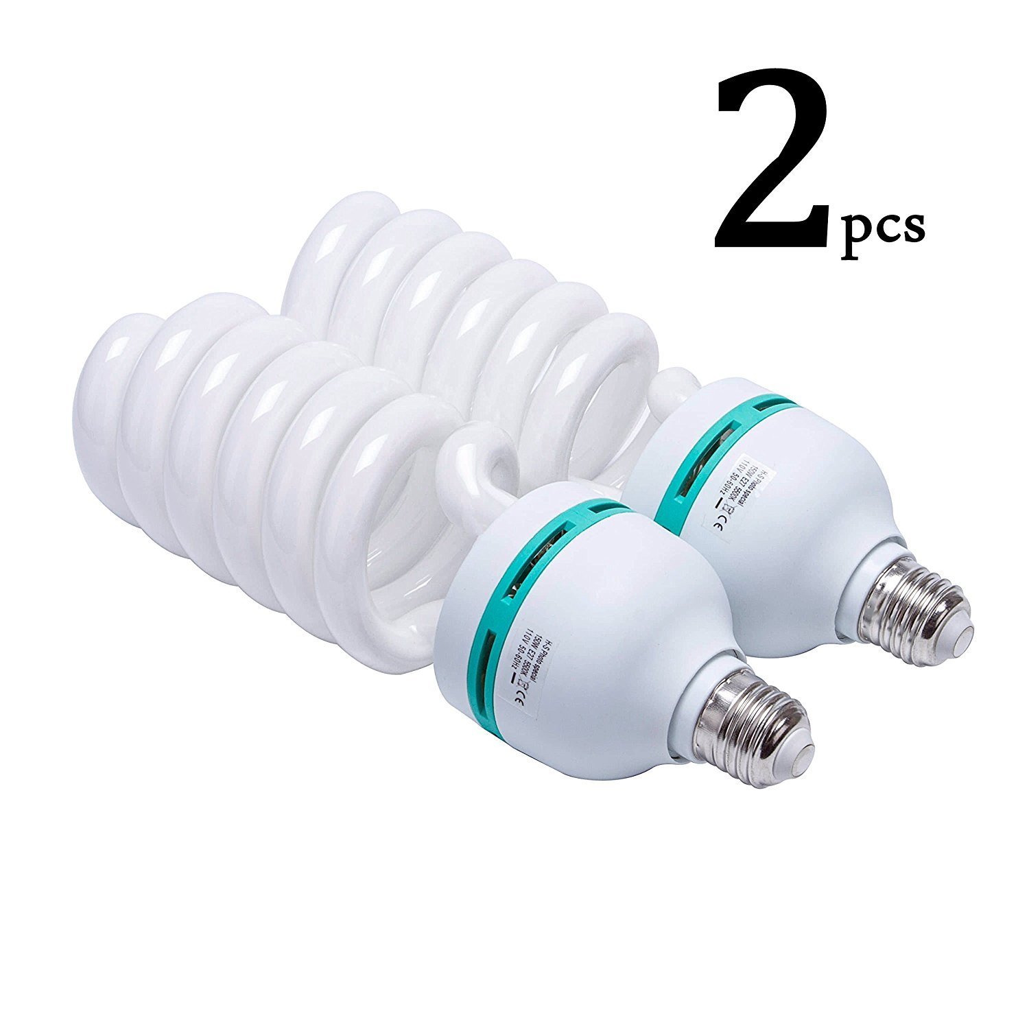 Photography Compact Fluorescent CFL Daylight Balanced Bulb with 5500K Color Temperature for Photography /& Video Studio Lighting