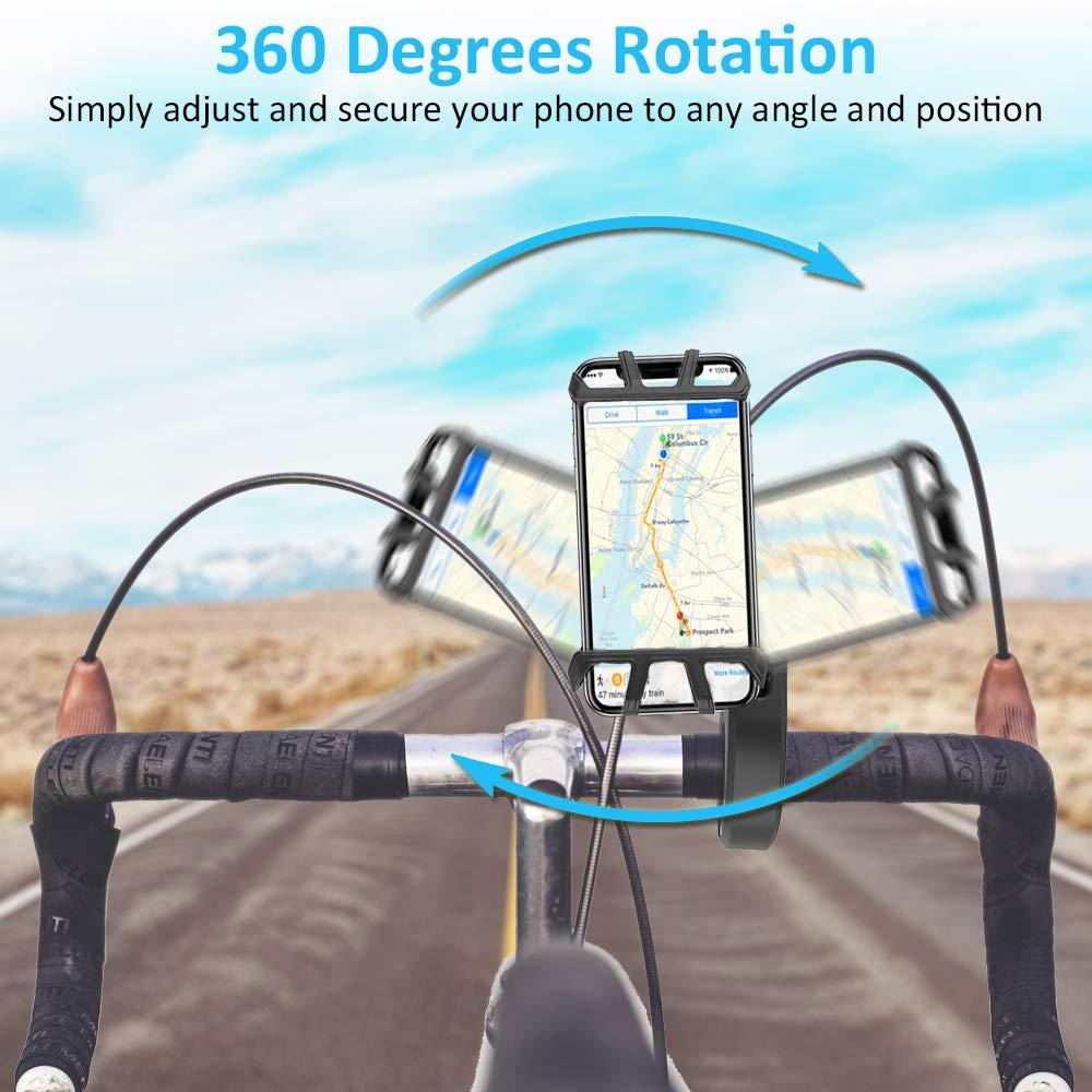 Universal Fahrradhalterung f/ür 4.7-6.5 Zoll Smartphone GPS Schwarz Cocoda Handyhalterung Fahrrad 360 Grad Verstellbarer Silikon Fahrrad Lenkerhalterung Motorrad Handyhalterung Andere Ger/äte