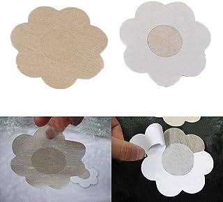 Chengyida 25paires Fleur adhésif Nipple Covers Coussinets Body seins Stickers jetables Pâte de lait anti à vider Coffre de la colle