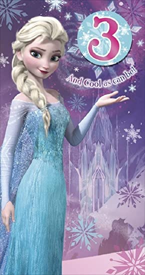 Frozen Age 3 3rd Birthday Card And Badge Elsa Amazon Office
