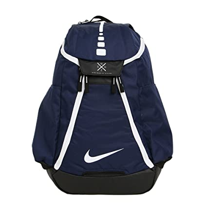 the best attitude 7e2ab b901f Amazon.com  Nike Hoops Elite Max Air Team 2.0 Basketball Backpack Midnight  Navy Black White  Sports   Outdoors