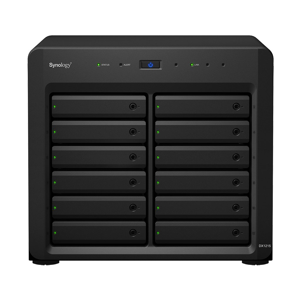 Synology DX1215 Unidad de Disco Multiple 24 TB Escritorio Negro - Unidad de Disco múltiple (Unidad de Disco Duro, 24 TB, Unidad de Disco Duro, SSD, Serial ATA II,Serial ATA III, 2000 GB, 2.5/3.5