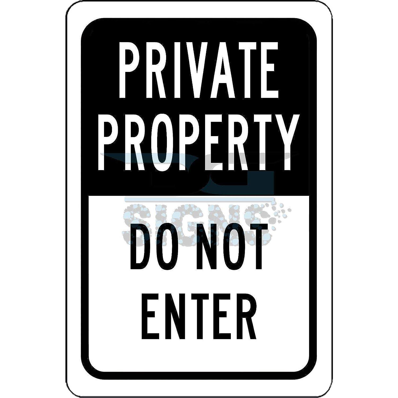 Propiedad Privada NO entrar - cartel de aluminio 8 x 12 ...