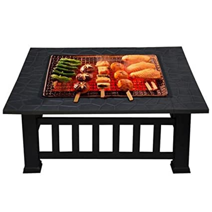 Amazon.com: 32 Fire Pit parrilla para barbacoa al aire ...