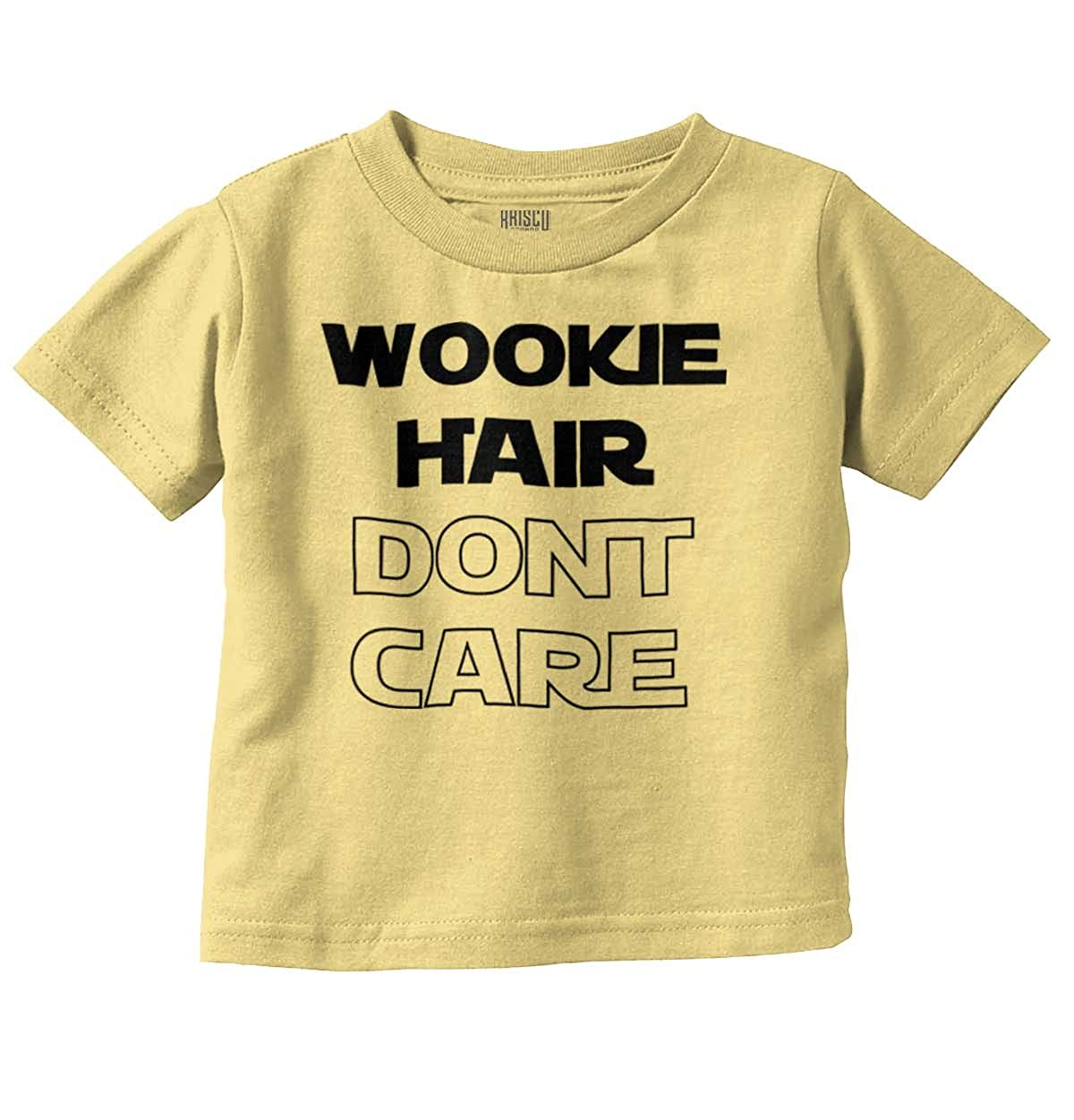 Brisco Brands Wookie Hair Don't Care Cute Nerdy Geeky Toddler T Shirt