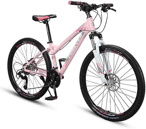 RYP Bicicleta para Joven Bicicletas De Carretera Bicicleta for Mujer de Bicicletas de montaña del Camino MTB Bicicletas for Adultos de 26 Pulgadas Llantas de 21 Velocidad Doble Freno de Disco: Amazon.es: