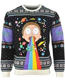 Ripple Junction Rick And Morty Happy Human Holiday Adult Knit