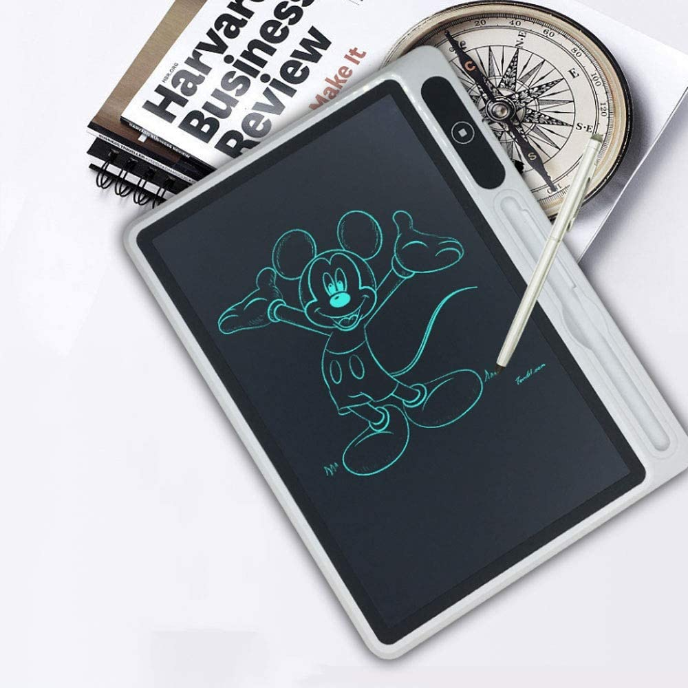 Fighrh 10.5Inch LCD Tablet Electronic Writing Graphic Tablet Portable Mini Digital Drawing Handwriting Board LCD Drawing Tablet Electronic Writing Graphic Tablet with Memory Lock Color : White