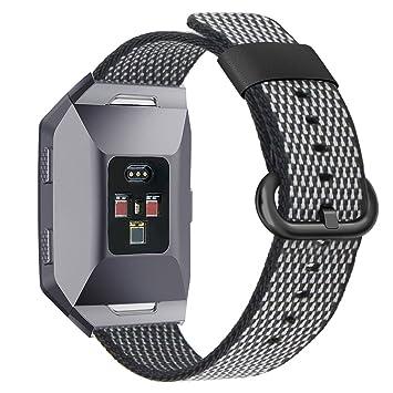 Pugo Top - Correa Fitbit Ionic. Accesorios de sustitución de banda de nailon deportivo.