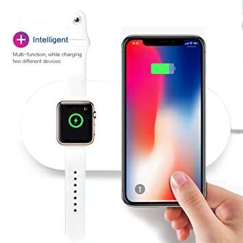Zyx Cargador Inalámbrico para Apple Watch Pad para iPhone X ...