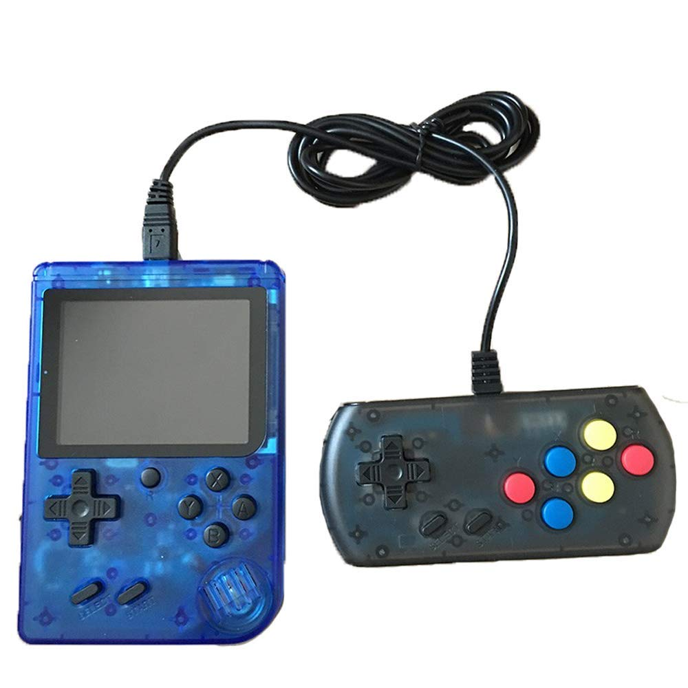 360 Retro Games Handheld Game Console, 2 Players, Classic Game Console, 3 Inch Screen USB Charger Supports TV, FC System Plus Extra Joystick Mini Controller, Gifts for Kids Children.(Blue) by Haberman (Image #1)