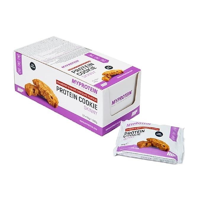 MyProtein Skinny Cookie Galletas de Proteínas, Sabor Bayas - 12 Unidades