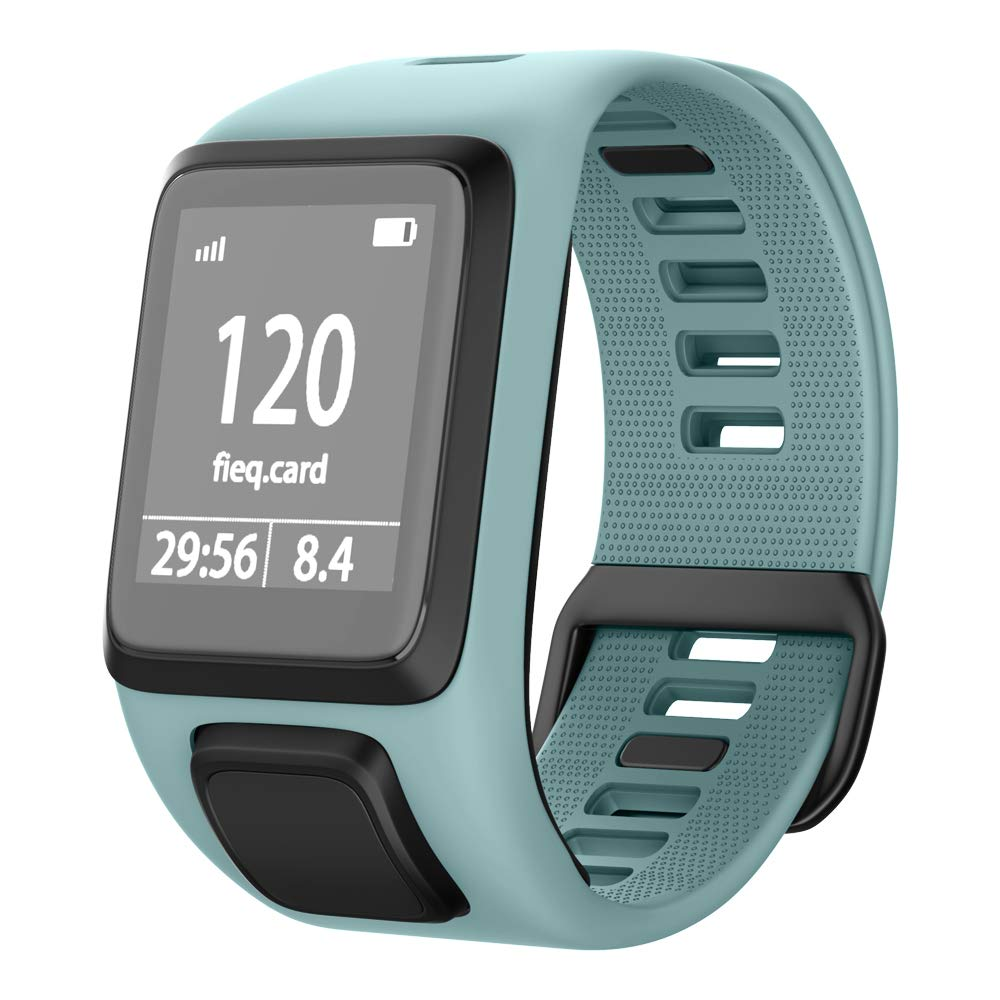 NotoCity Compatible with Tomtom Watch Band Silicone Watch Strap Replacement for Spark/Spark 3/Golfer 2/Adventurer/Runner 2/3 Smartwatch(Teal)
