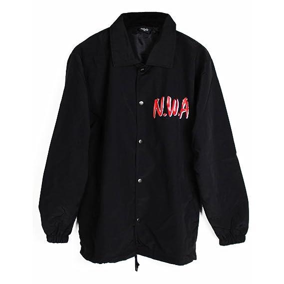 00681daa3 Fly Coach NWA Coach Jacket Black: Amazon.co.uk: Clothing