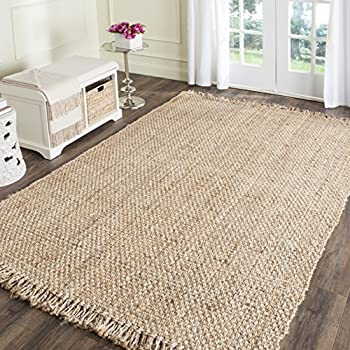 Safavieh Natural Fiber Collection NF467A Hand Woven Natural Jute Area Rug  (5u0027 X 8
