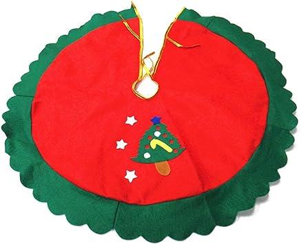 60cm Falda Decoración Estrella de Árbol Navidad Borde Ondulado ...
