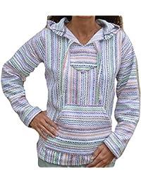 Baja Hoodie Confetti Fiesta Mexican Drug Rug Pullover Poncho Sweatshirt