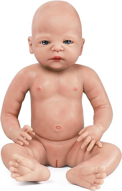 22/'/' Lifelike Baby Reborn Boy Girl DollsSolid Silicone Vinyl Doll Handmade Gift