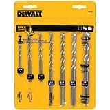 DEWALT DW5207 Premium Percussion Masonry Drill Bit Set, 7-Piece