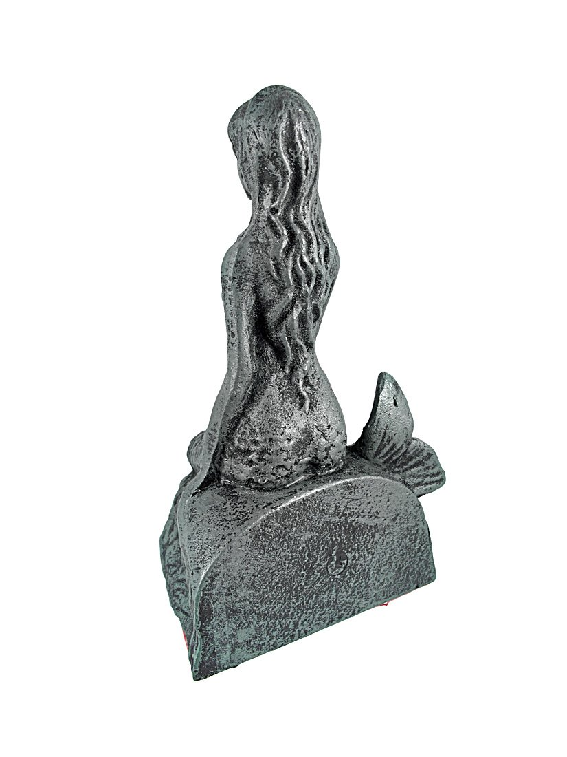 Private Label Cast Iron Mermaid Bookends Verdigris Finish Moby Dick Specialties A-377
